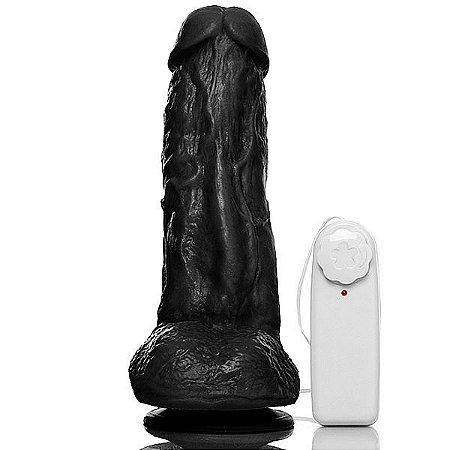 Pênis Kong com Vibrador, Escroto e Veias 19 x 5,5 cm