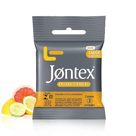 Preservativo Jontex Com Sabor e Aroma de Frutas Cítricas - 3 Unidades