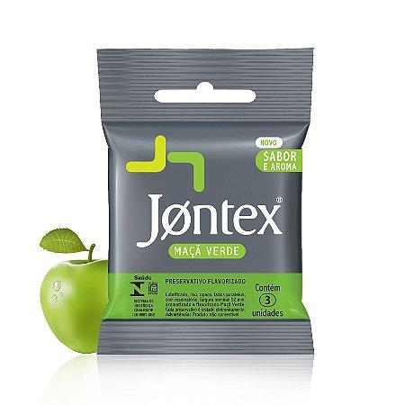 Preservativo Jontex Sabor e Aroma Maça Verde - 3 unidades