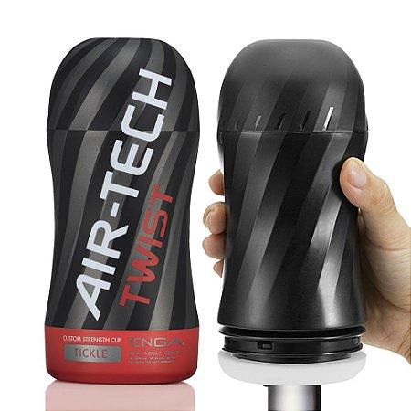 Masturbador com Regulagem do Aperto Interno e Textura Ondulada - Air Tech Twist Tickle - Tenga