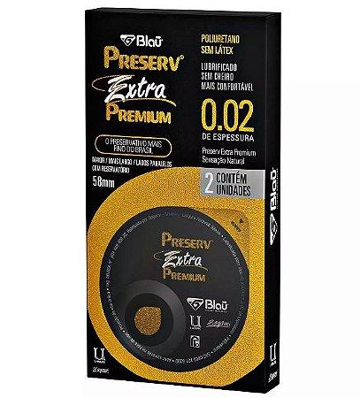 Preservativo Preserv Extra Premium sem Látex - Maior - Mais Fino - Mais Largo - Com 2 unidades