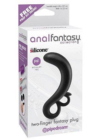 Plug Anal Feito de Silicone Two finger Fantasy Anal Fantasy