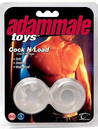 2 Anéis para Pênis e Escroto com Grande Elasticidade Adam Male Toys