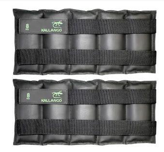 Caneleira profissional emborrachada 8 KG - Velcro Móvel ( PAR )