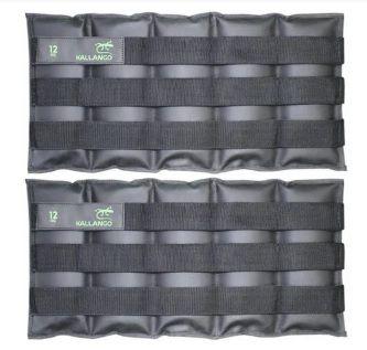 Caneleira profissional emborrachada 12 KG - Velcro Móvel ( PAR )