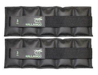 Caneleira profissional emborrachada 3 KG - Velcro Móvel ( PAR )