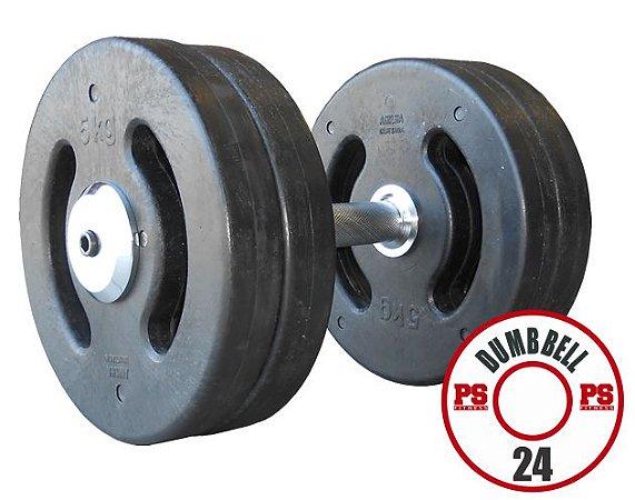 Dumbell Injetado  24 KG - PAR