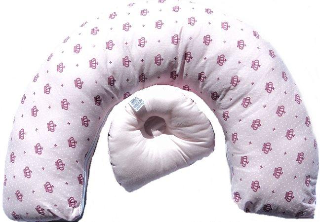 Almofada de amamentar, com travesseiro anatômico de apoio em