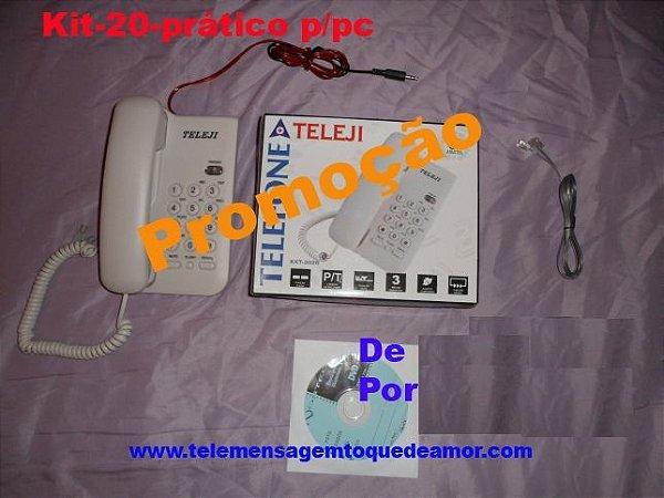Kit de telemensagem Nº 20 completo para computador