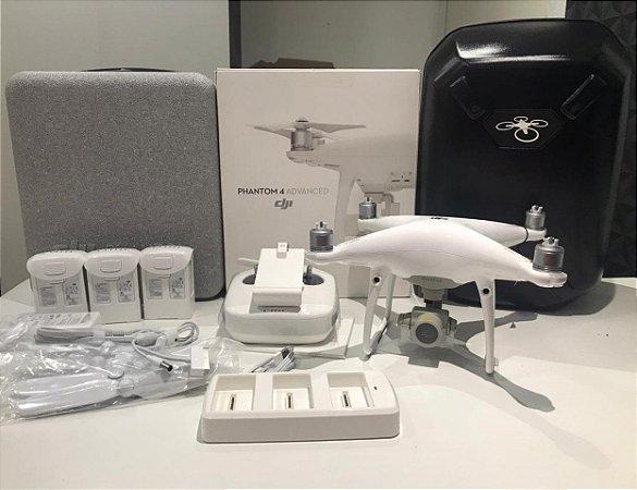 Drone Dji Phantom 4 Advanced Combo Com 2 Baterias Extras