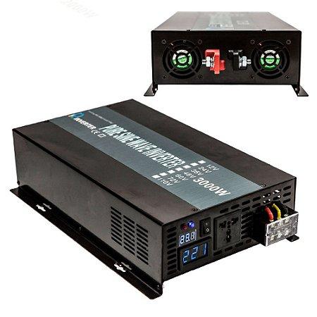 Inversor 3000w De Onda Senoidal Pura 12vdc - 120vac 60hz