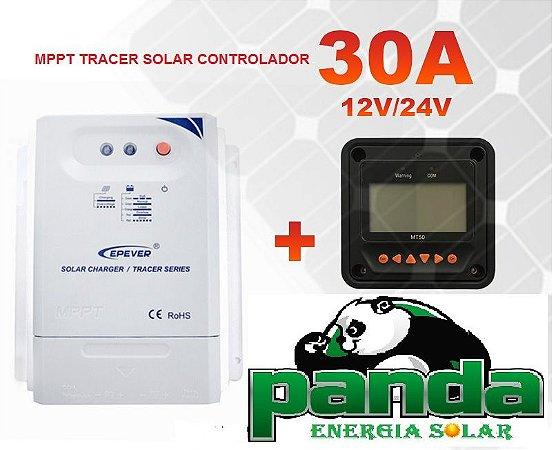 Controlador MPPT Solar 30a tracer3210cn 12/24v + Mt 50