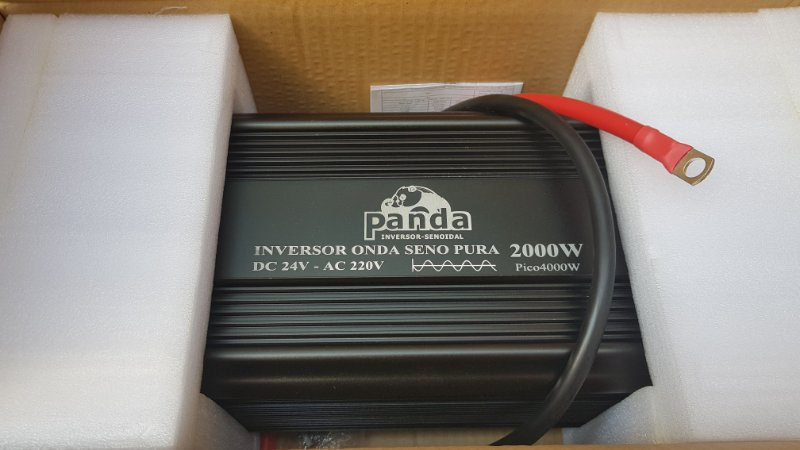Inversor 2000w De Onda Senoidal Pura 24vdc - 220vac 60hz PANDA