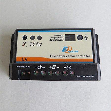 controlador solar para carregar duas baterias 20A 12/24v EPSOLAR