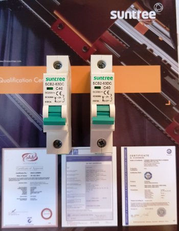 Disjuntor CC Unipolar 40A 250VDC SCB2 Suntree