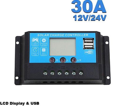 Controlador de carga solar 30 A LCD Modelo DY3024