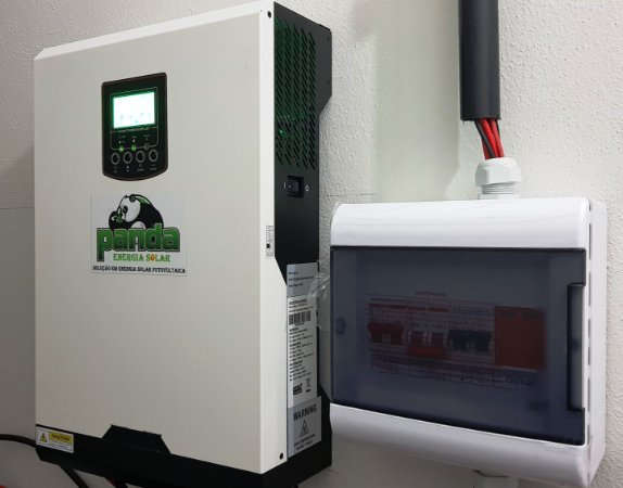 Kit 2 Solar Inversor 3000 watts Sistema off grid Hibrido 220 volts