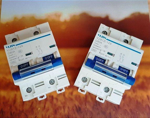 Disjuntor Bipolar 125A DC 440v  energia solar baterias