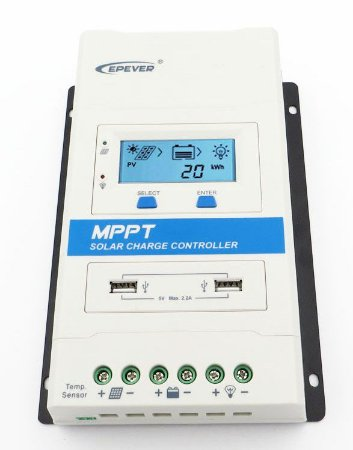 Controlador  MPPT TRIRON 40A 4210N DS1/UCS Epever 100 v 40A 12/24 v lcd