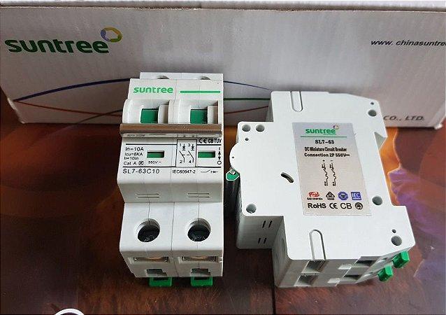 Disjuntor CC Bipolar 16A  550Vdc  Suntree SL7