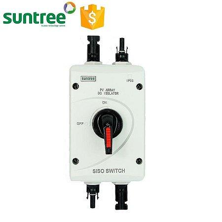 Chave Isoladora Externa dos Painéis solares SISO-40DC - 1000VdC 32A 4 polo c/ conector Mc4