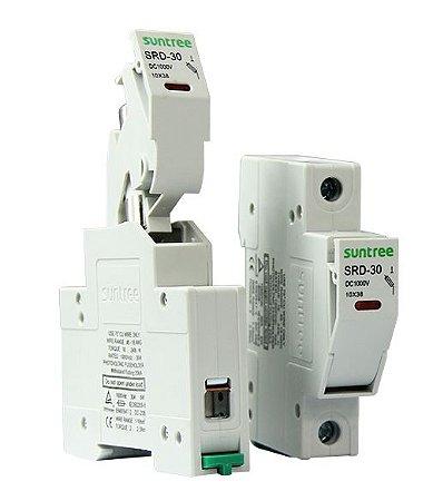 Base Com Fusível Dc 10x38 Solar 15A 1000VDC gPV