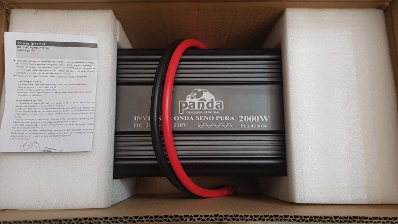 Inversor 2000 watts Onda senoidal pura 24Vdc saida 110 Vac
