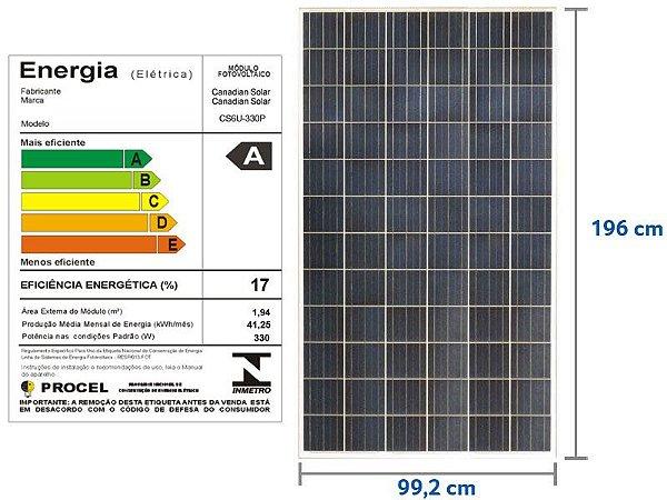 Painel Solar Fotovoltaico Canadian CSI CS6U-330P (330Wp)