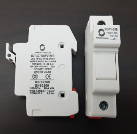 Porta Fusível Solar 1000Vdc 10 x 38 WorldSunLight