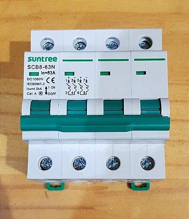 DISJUNTOR CC 63A 1000 VDC SCB8  4 polo  Suntree