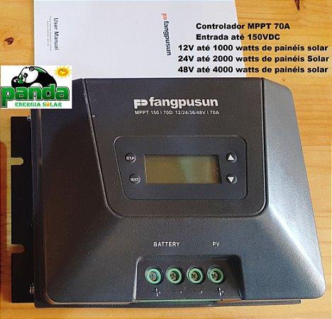 Controlador Solar Fangpusun MPPT 70A 12, 24, 36,48Vdc