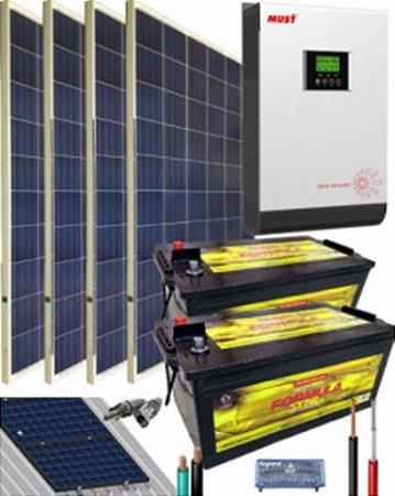 Kit Solar Casa de campo 3000W 24V 6400Whdia
