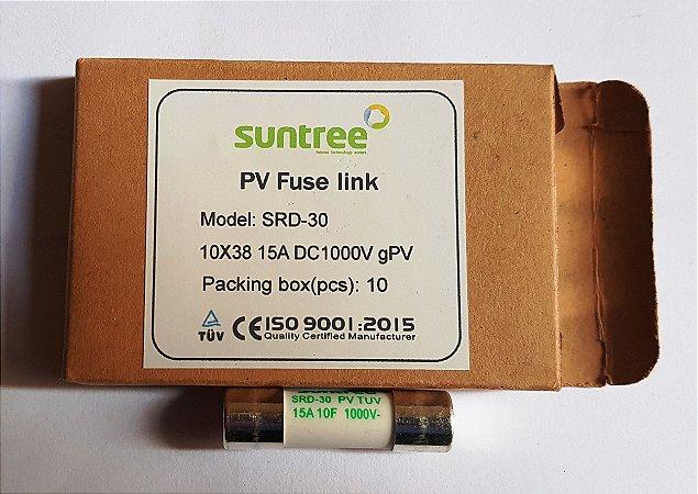 Fusível Solar 15A 1000Vdc gPV 10x38 Suntree caixa 10 Unidades