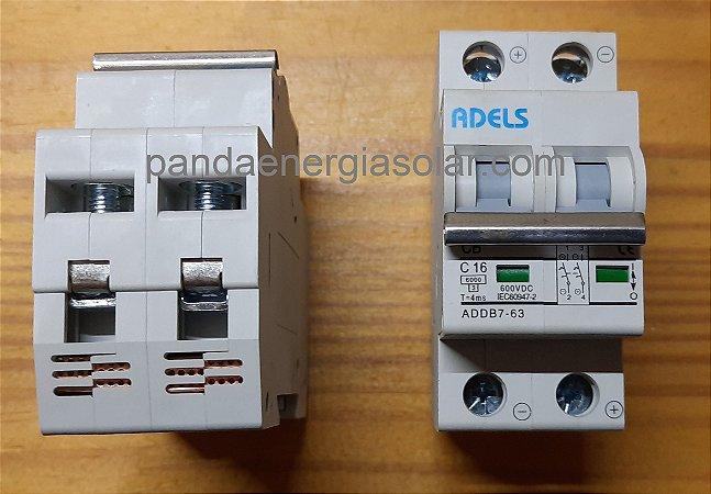 Disjuntor CC Bipolar 16A 600VDC ADDB7-63 ADELS