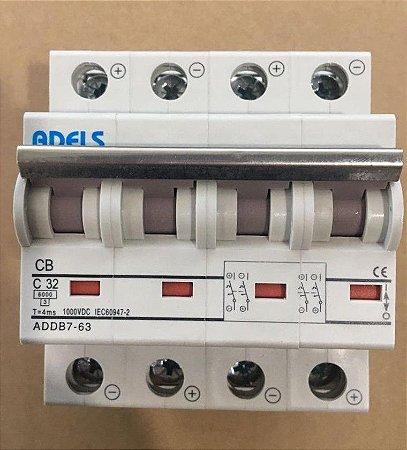 Disjuntor CC 4P 20A 1000VDC ADDB7-63 ADELS
