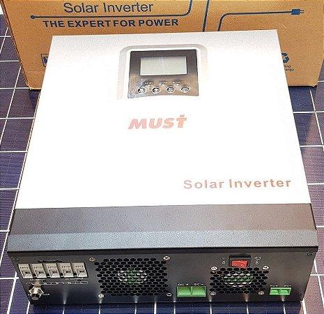 Inversor Hibrido 3000 wattss 220 VAc 24Vdc controlador solar 50A MPPT Must Solar