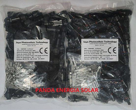 50 Pares de Conectores MC4 SOYO 30A 1000VDC