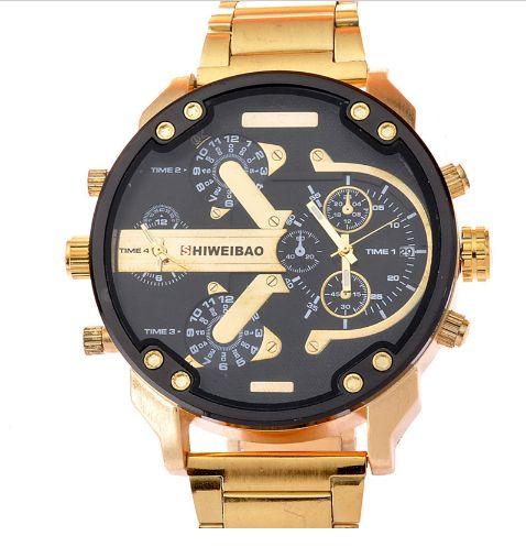 Relógio Shiweibao Metal Gold