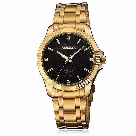 Relógio de Luxo Gold Edition