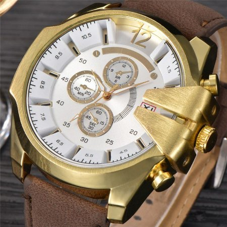 Relógio de Luxo Golden Crow