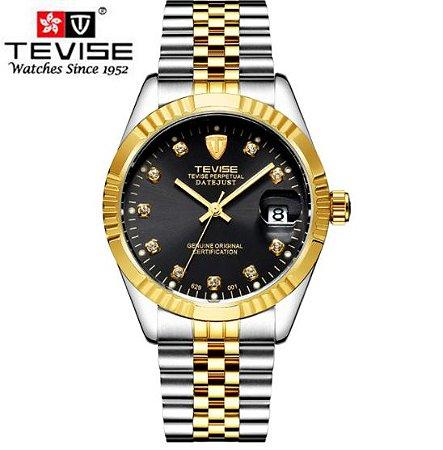 Relógio de Luxo Tevise Série Ouro