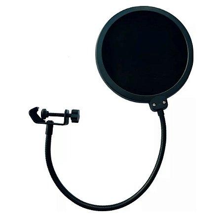 Pop Filter Anti Puff Para Microfone Condensador Studio