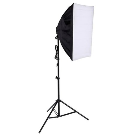 Kit Luz Contínua Soft Box 50 X 70 Soquete E27 + Tripe 2m