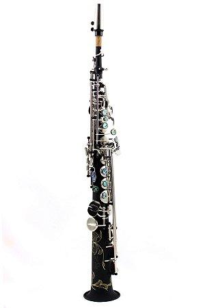 Sax Soprano em Sib Konig Custom Preto Kss - 901 Profissional