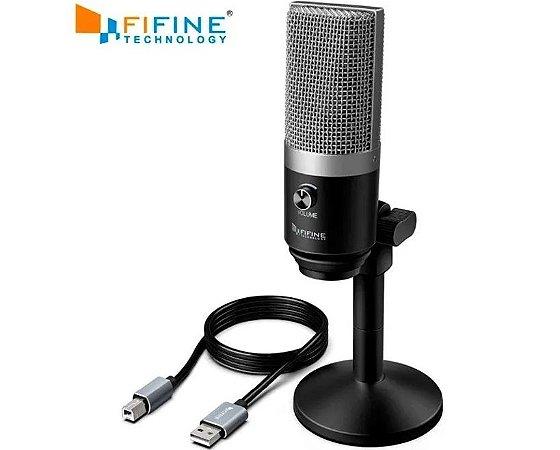 Microfone Fifine K670 Usb Pc/notebook Com Entrada Para Fone