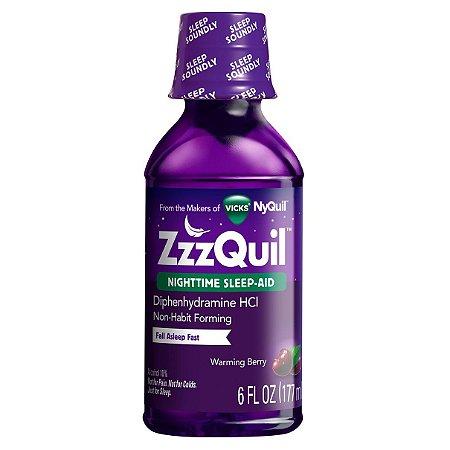 Zzzquil Nighttime Sleep-aid Liquid Warming Berry