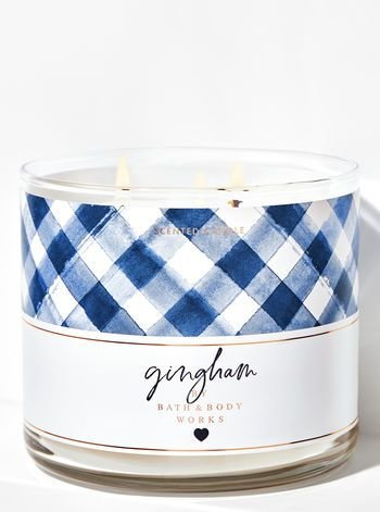 Gingham 3-Wick Candle