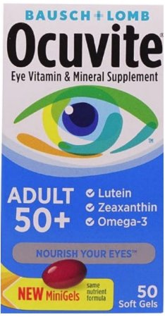 Bausch & Lomb Ocuvite Adult 50+ Eye Vitamin & Mineral Softgels