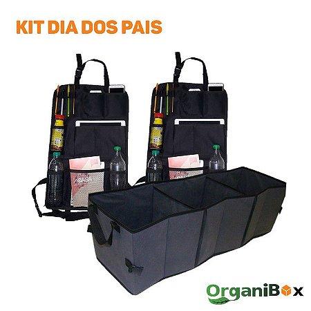 Kit Dia dos Pais - 1 organizador de porta-malas e 2 organizadores porta-treco