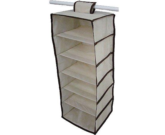 Cabideiro Organizador Multiuso para Roupas e Sapatos - Vertical